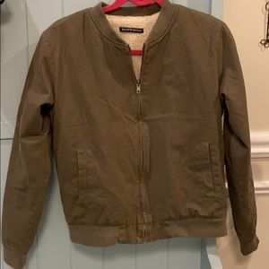 Brandy Melville Bomber Jacket in Army Green